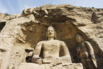 Buddhist statues of Yungang Caves — Stock Photo