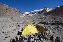 Tent at Plaza de Mulas base camp — Photo de stock