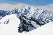 Mont Blanc from Mont Buet — стокове фото