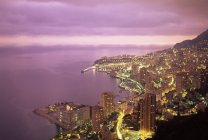 Evening view over Monte Carlo — Stock Photo