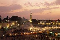 Jemaa el-Fnaa market place — стокове фото
