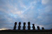 View of Anakena, Rapa Nui — Stock Photo