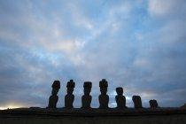 View of Anakena, Rapa Nui — Stock Photo