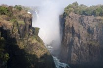 Flowing water in Victoria Falls — Stock Photo
