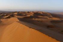 Observando a vista do deserto de areias de Wahiba — Fotografia de Stock