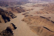 Aerial view of sand dunes — Stock Photo