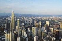 Skyline de Kuala Lumpur à partir de Kl Tower — Photo de stock