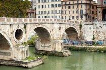 Sisto Bridge and River Tiber — Stock Photo