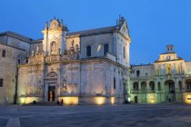 Lecce Cathedral in baroque city — Stock Photo