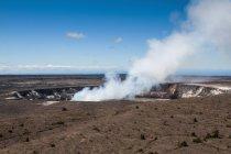 Lago de Lava do tabagismo Kilauea Cimeira — Fotografia de Stock