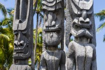 Wooden statues in National Historical Park — Stock Photo