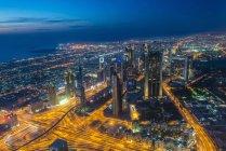 Dubai dal burj khalifa — Foto stock