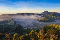 Observing view of Mount Bromo crater — Stock Photo