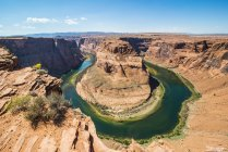 Horseshoe Bend on Colorado River at South Rim — Stock Photo