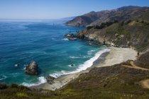 Surplombent sur Big Sur — Photo de stock
