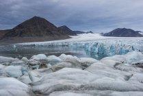 Riesige Gletscher im Hornsund — Stockfoto
