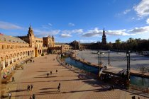 Observing view of Plaza de Espana — Stock Photo