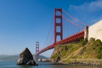 Наблюдения за вид на мост Золотые ворота — стоковое фото
