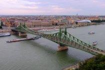 Puente de la libertad sobre el río Danubio - foto de stock