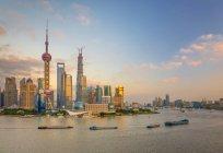 Skyline de Pudong district - foto de stock