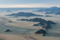 Aerial view over Sossusvlei at sunrise — Stock Photo