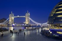 Tower Bridge and River Thames — Stock Photo