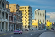Street of Malecon with buildings — Stock Photo