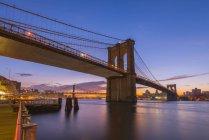 Brooklyn Bridge and Manhattan Bridge — Stock Photo