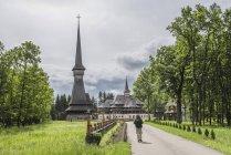 Tourisme au monastère de Sapanta Peri — Photo de stock