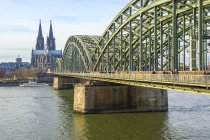Cologne Cathedral and Hohenzollern Bridge — Stock Photo