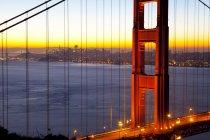 Observing view of Golden Gate Bridge — Stock Photo
