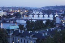 Vltava River with the bridges — Stock Photo