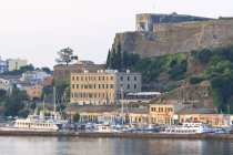 Corfu Town fortifications and harbour — Stock Photo