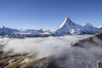 Vista aérea de la montaña Matterhorn - foto de stock