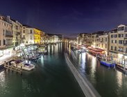 Grand Canal lit at night — Stock Photo