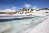 Emet de lac dans la vallée de Spluga — Photo de stock