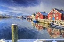Casas coloridas de los pescadores - foto de stock