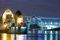 Thames Barrier, Millennium Dome — Stock Photo