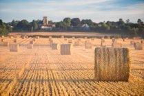 Hay bales in Cuddesdon countryside — Stock Photo