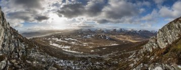 View across Cairngorms from top of Creag Dubh — Stock Photo