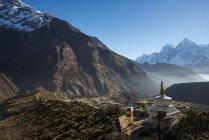 Vista dal monastero di Thame guardando verso il basso — Foto stock
