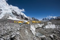Tents at Everest Base Camp — Stock Photo