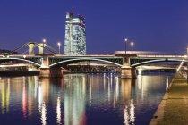 View over Main River to Ignatz Bubis Bridge — Stock Photo
