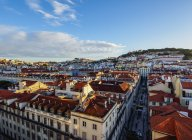 View over downtown and Santa Justa Street — Stock Photo