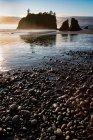 Luz de noche en Playa rubí - foto de stock
