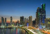 Панама-Сіті вночі — стокове фото