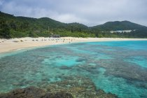 Furuzamami Бич, остров замами — стоковое фото