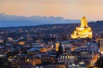 Tbilisi at dawn, Georgia — Stock Photo
