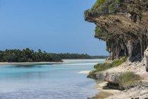 Ilhas de lealdade de penhascos, Ouvea, Lekiny — Fotografia de Stock