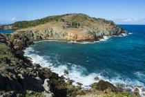 Береговая линия St. Barth, Малые Антильские острова — стоковое фото